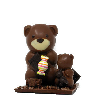 Famille ours en chocolat