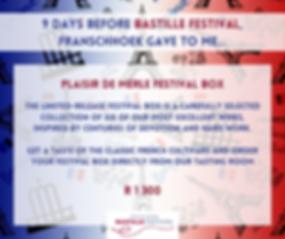 Bastille voucher Plaisir de Merle Fest b