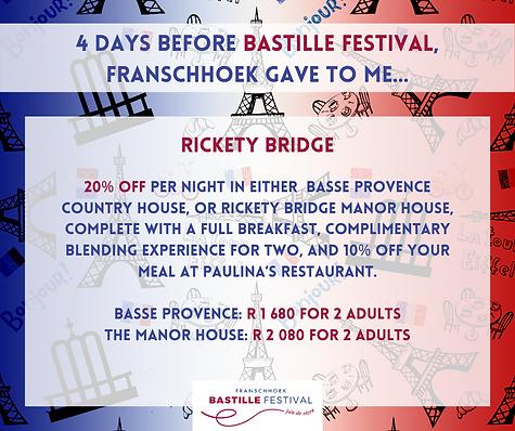 Bastille Voucher Rickety Bridge accommod