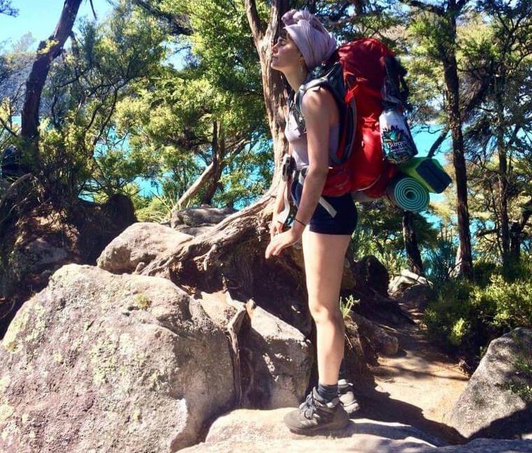 Rosa-Maria Reinprecht on hike