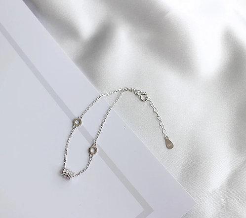 18k guld pläterad vänd pärlor armband