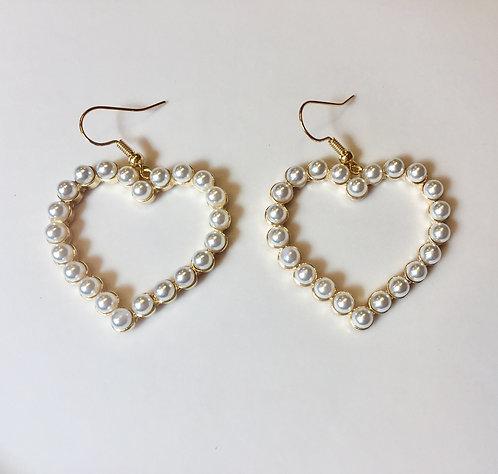 Hjärta Pärla Örhängen