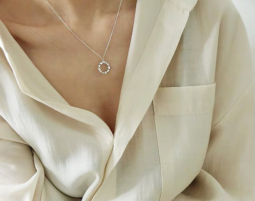 18k-gold plated- Circle necklace