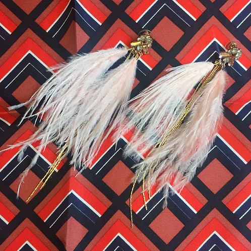 Feather Rosa Örhängen