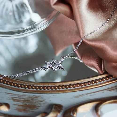 18k guld pläterad stjärna halsband