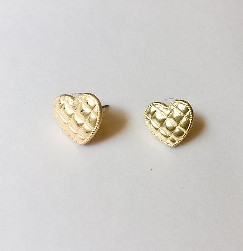 Heart Golden Earrings