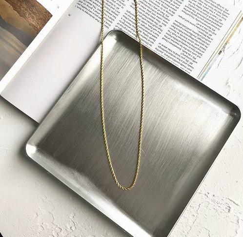18k Guld pläterad Twist Halsband