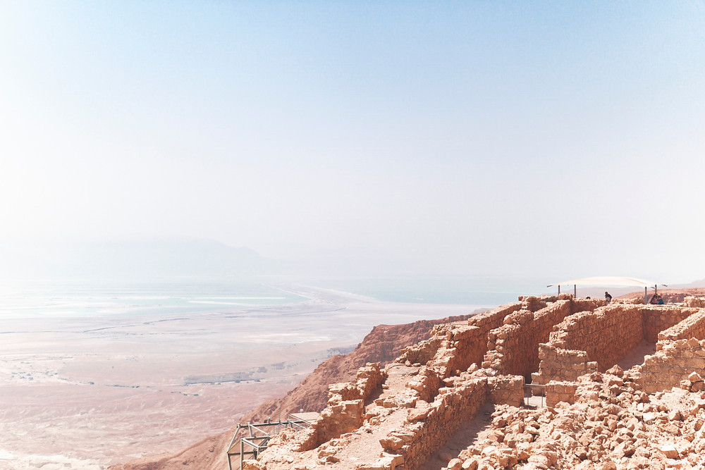 View towards the Dead Sea from the eastern side of Masada.