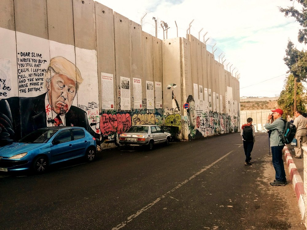 "The famous ""Trump Graffiti"" in Beth Lehem on the Wall."