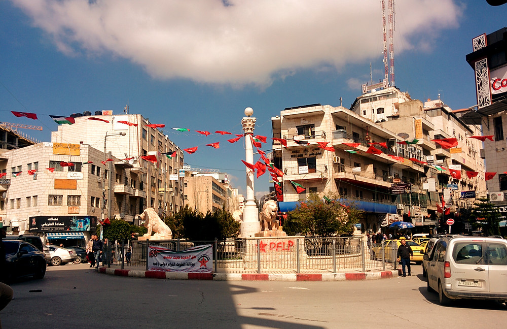 Central Ramallah, the biggest city in the west bank and under the PA.