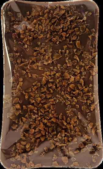 Belgium Milk Chocolate Bar with Salted Caramel Crunch