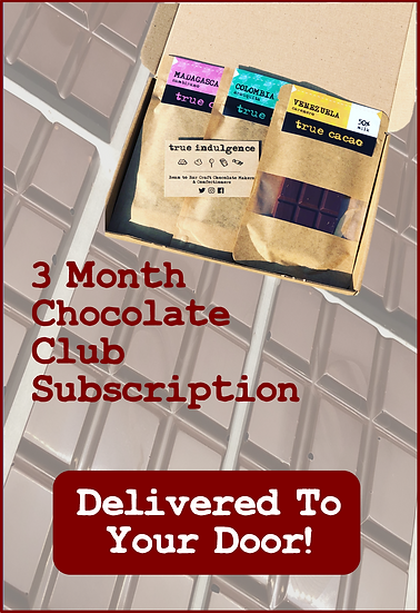 3 Month Chocolate Club Subscription - Including UK Delivery