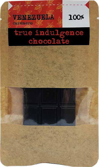 Venezuela Carenero 100% (Bean to Bar) Craft Chocolate Bar