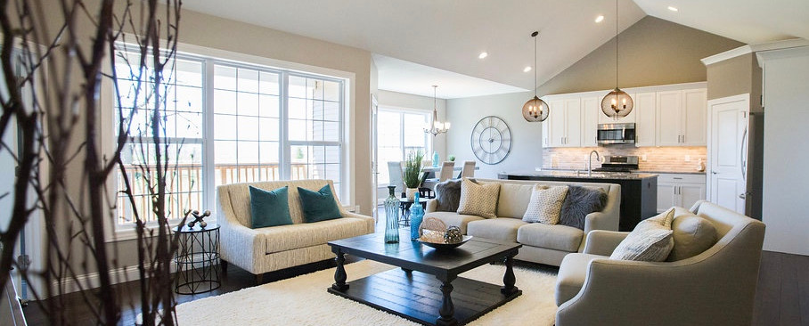Living Room, Kitchen & Dining Room