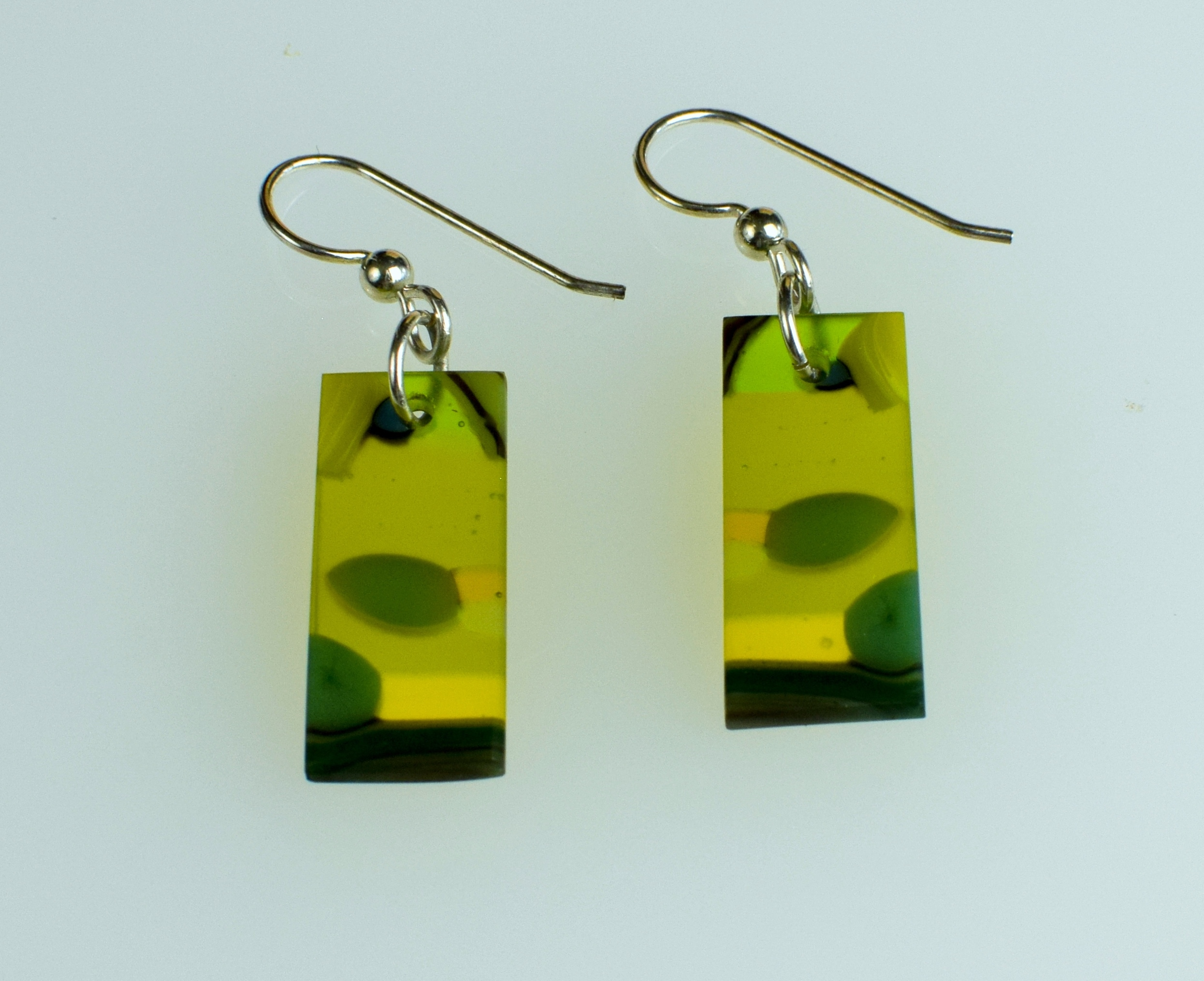Earrings -0074 (1) olive green
