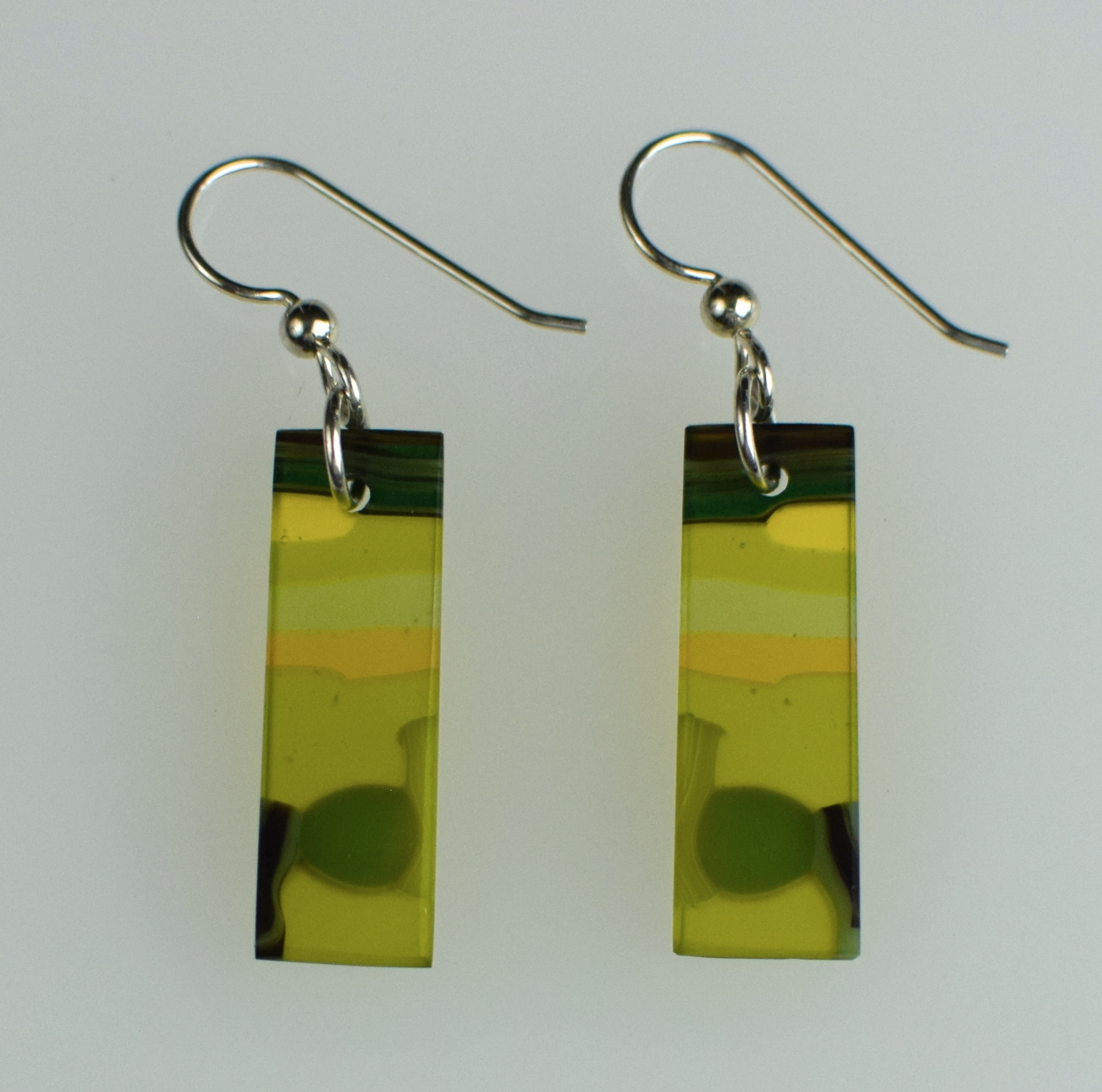 Earrings -0058-2 olive green