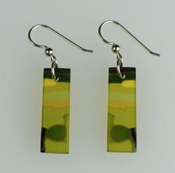 Earrings -0058-2 olive green