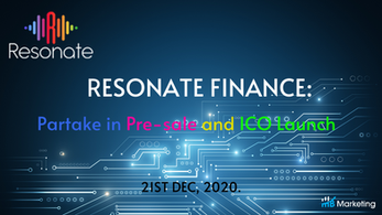 Resonate Finance: Partake in Pre-sale and ICO Launch of Its Innovative Project with Multi-functional