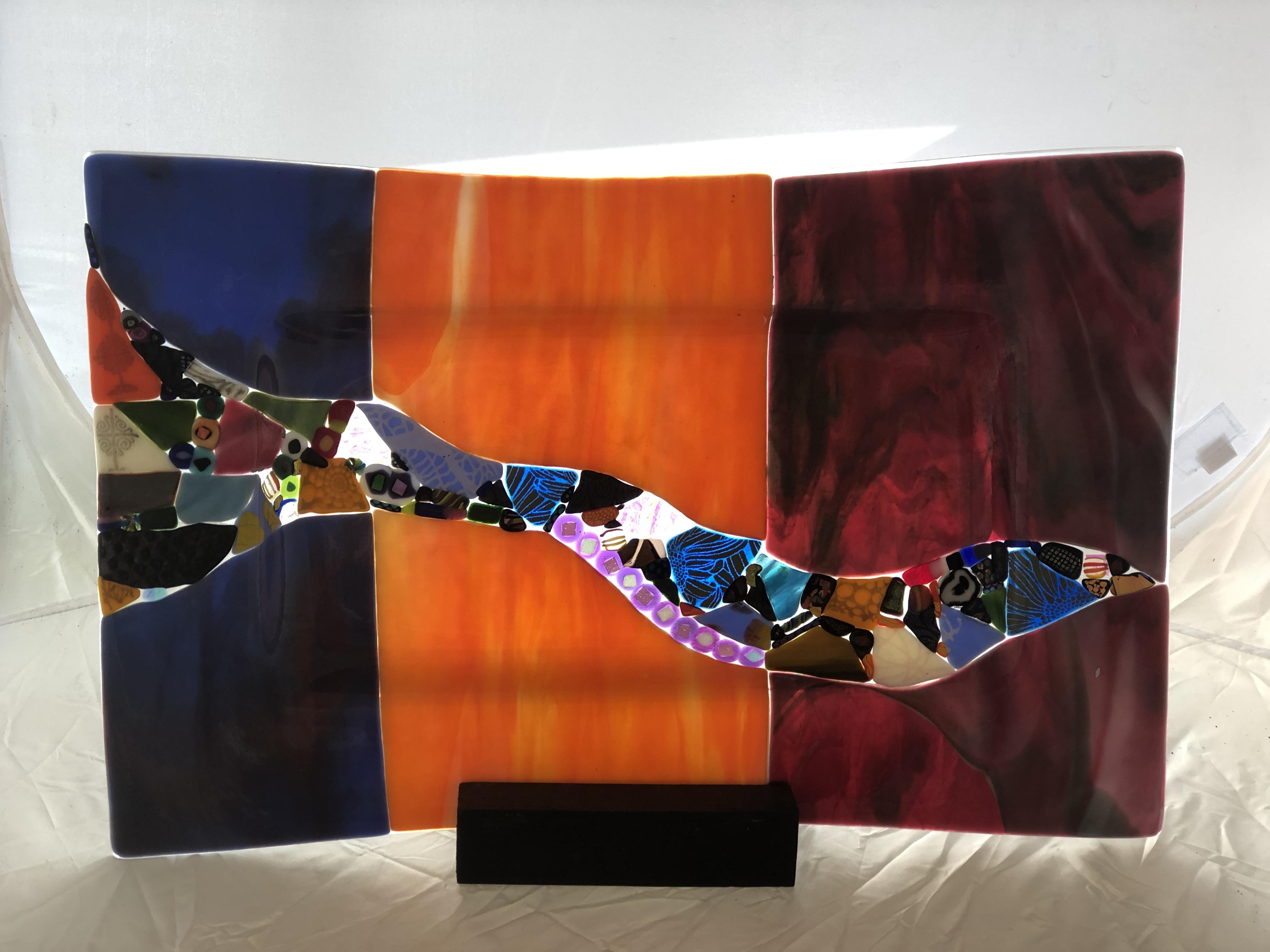 Large Tri-Colored Platter