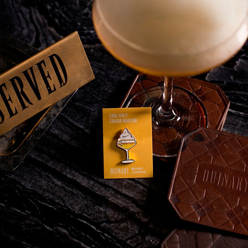 Earl Grey Caviar Martini Enamel Pin