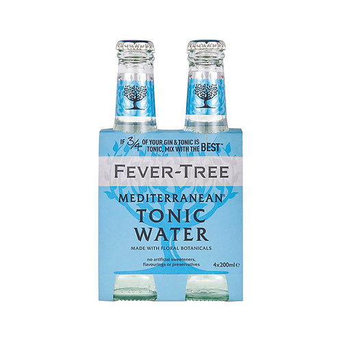 Fever-Tree Mediterranean Tonic Water - Pack of 4