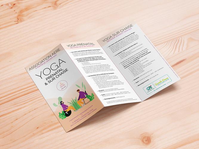Dépliant Yoga prénatal & sur chaise
