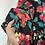Thumbnail: T-DRESS nero fiori disegnati