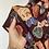 Thumbnail: Top BOXY bordeaux rose disegnate
