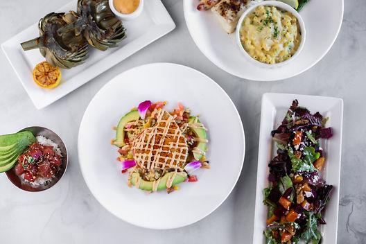 Chipotle Mango Ahi, Beet Salad, Hawaiian Ahi Poke, Fire Grilled Artichoke, Mac & Cheese