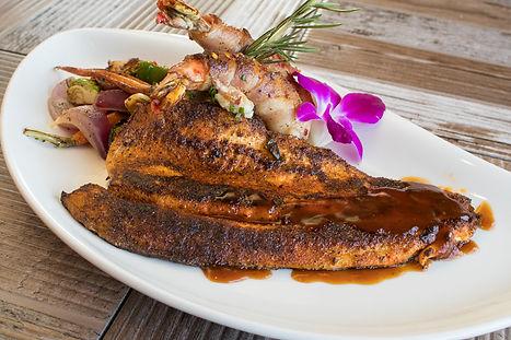 Snapper Veracruz and Shrimp