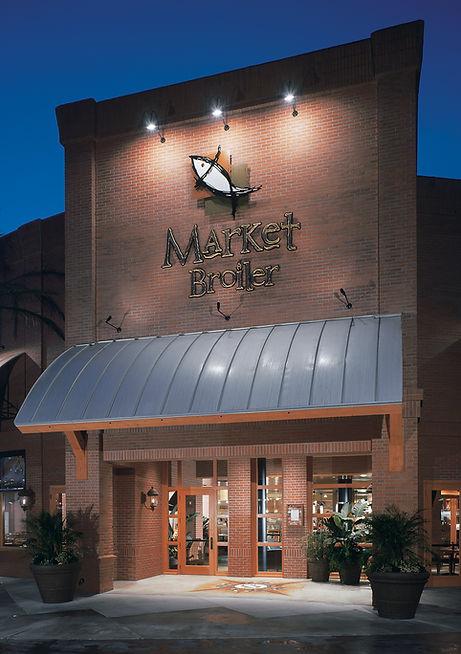 Market Broiler Ontario Front Entrance at Night