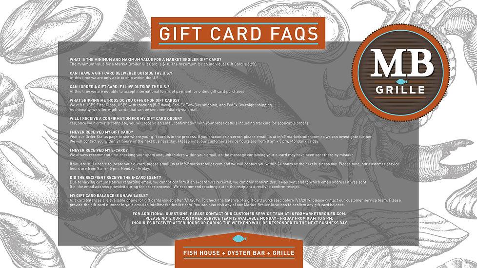 Gift Card FAQ