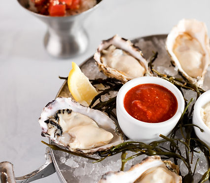 Oysters on the Half Shell on Ice