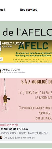 Le site web de l'AFELC/UQAM