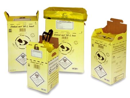 Emballages déchets de soins et Covid-19