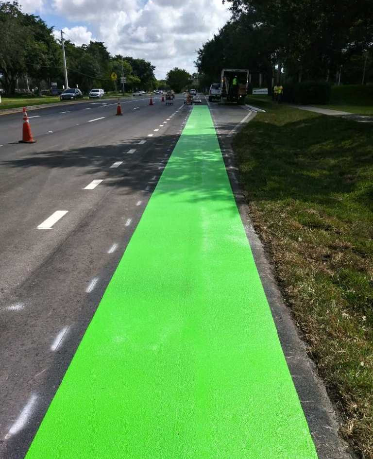 Green Bike Lane