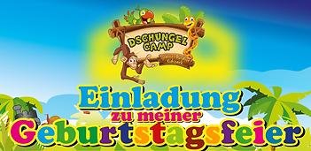 Einladung zum Geburtstag DschungelCamp.P