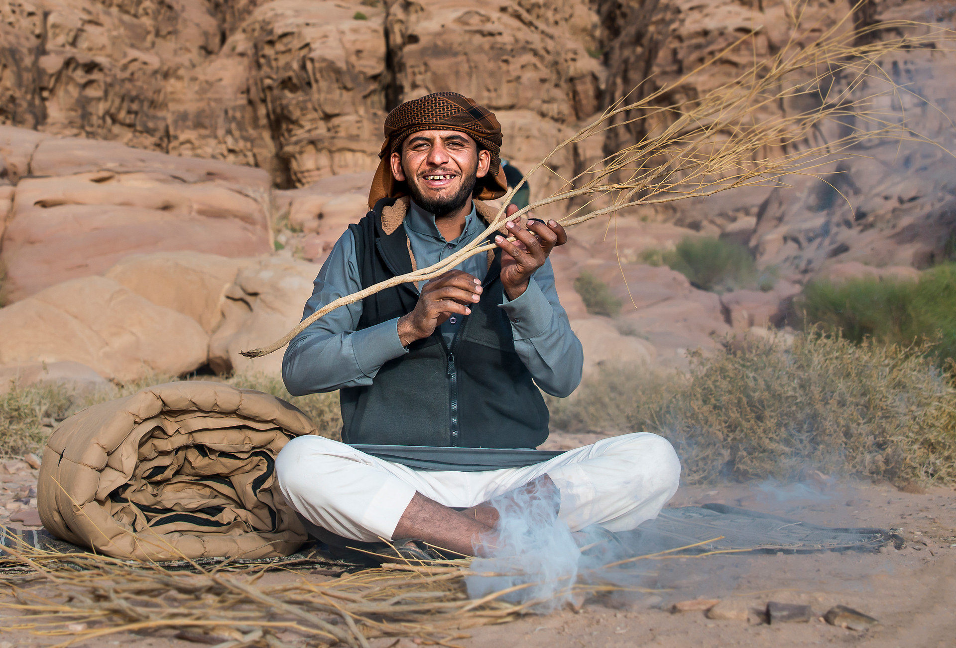 Cooking the bedouin way