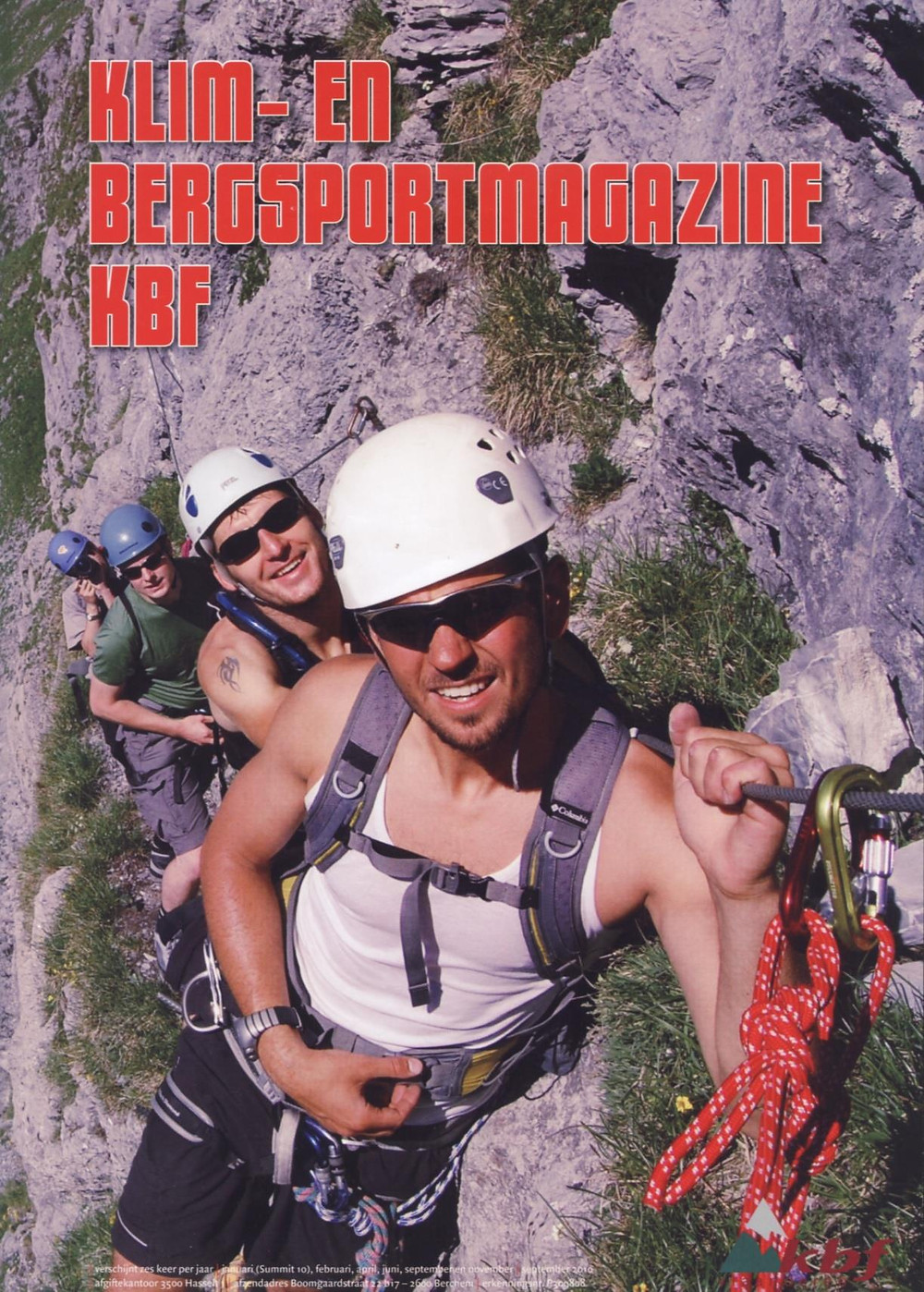 One of my first cover-images featuring my cousin Dominique Soete and one of my best friends Benjamin Vanhaverbeke - Cover in the Belgian mountaineering magazine KBF