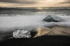 Breiðamerkursandur's ice