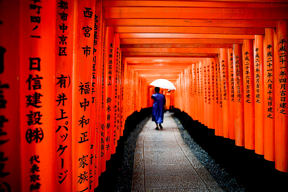 Traditional Japanese at the Fushimi Inari Shrine - ©Maaike Van den Meersschaut