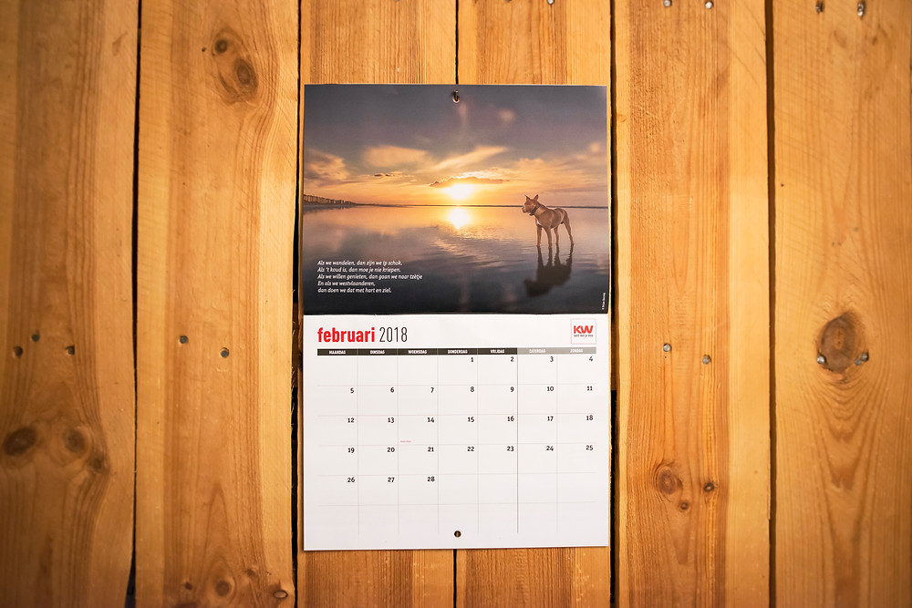 Publication 'Calendar 2018 Krant van West-Vlaanderen' - C&P assistent Charlotte Decaestecker