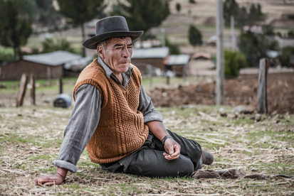 The resting farmer