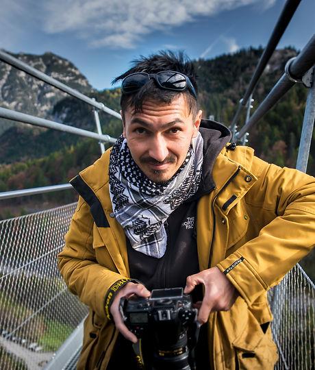Portrait of photographer Brian Decrop by © Maaike Van den Meersschaut