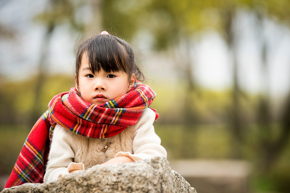 Japanese little girl posing. ©BrianDecrop