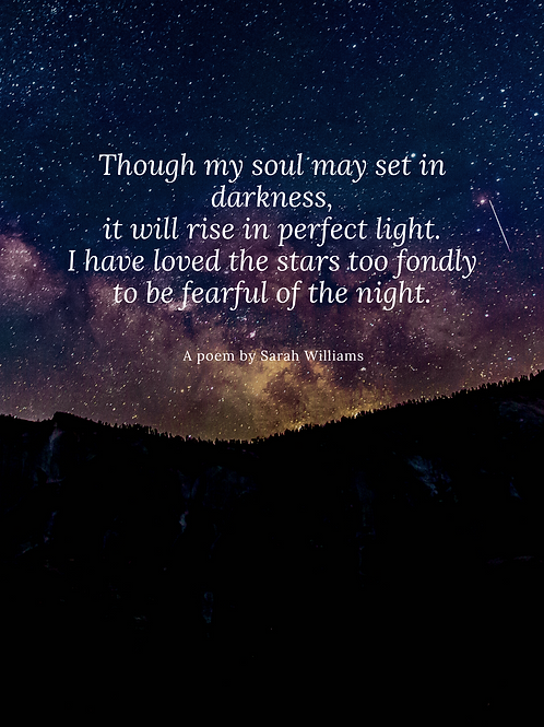 Sarah Williams Poem