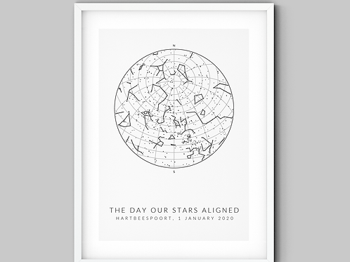 All White Star Map