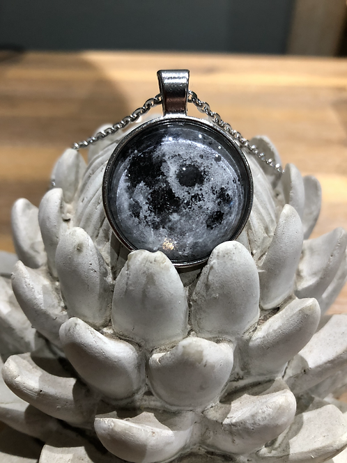 Full Moon Wish Pendant with Chain