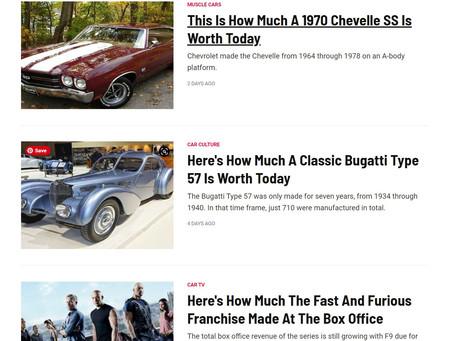 Now Writing For Hotcars.com
