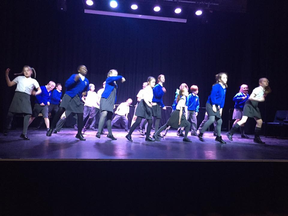 Year 6 at Woodhey Dance Festival Feb 2017